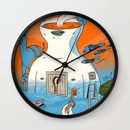 in and out Wall Clock