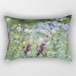 Wildflowers on the Mountain Rectangular Pillow