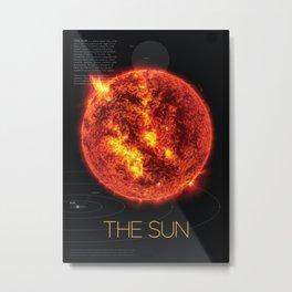 Solar System and Beyond: Sun Metal Print