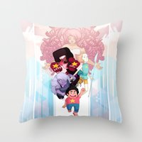 steven universe Throw Pillows featuring Steven by clayscence