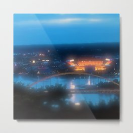 My City of Steel Metal Print