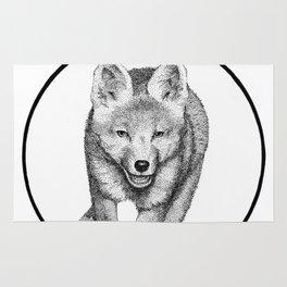 The Fox Running - Animal Drawing Series Rug