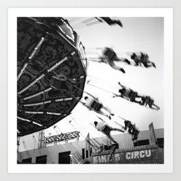 At the Fair: The Swings Art Print