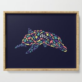 Abstract Dolphin Serving Tray