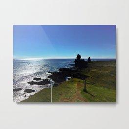 Lóndrangar Rock Pillars in Western Iceland (3) Metal Print