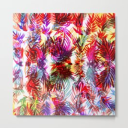 Bright Bamboo Leaf Repeated Pattern Metal Print