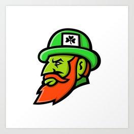 Leprechaun Head Mascot Art Print