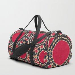 Tashkent Uzbekistan Central Asian Suzani Embroidery Print Duffle Bag