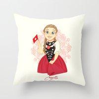 switzerland Throw Pillows featuring Switzerland by Melissa Ballesteros Parada