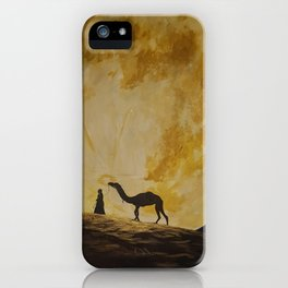 Travelling in Moonlight iPhone Case