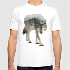 Winter Hunter Mens Fitted Tee LARGE White