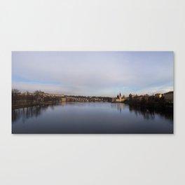Prague: Vltava River Canvas Print