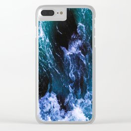 Unstoppable Waves Clear iPhone Case