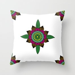 Cardinal Points Throw Pillow