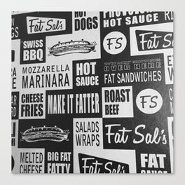 Sandwich Wall Canvas Print