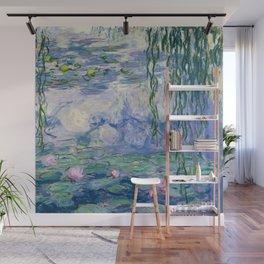 """Claude Monet """"Water Lilies(Nymphéas)"""" (9) 1916–19.jpg Wall Mural"""