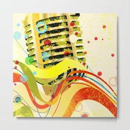 Jazz Microphone Poster Metal Print