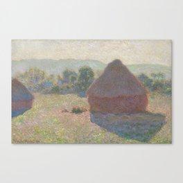 Meules, milieu du jour [Haystacks, midday] Canvas Print