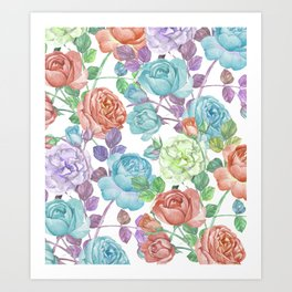 Breathless Rose Art Print