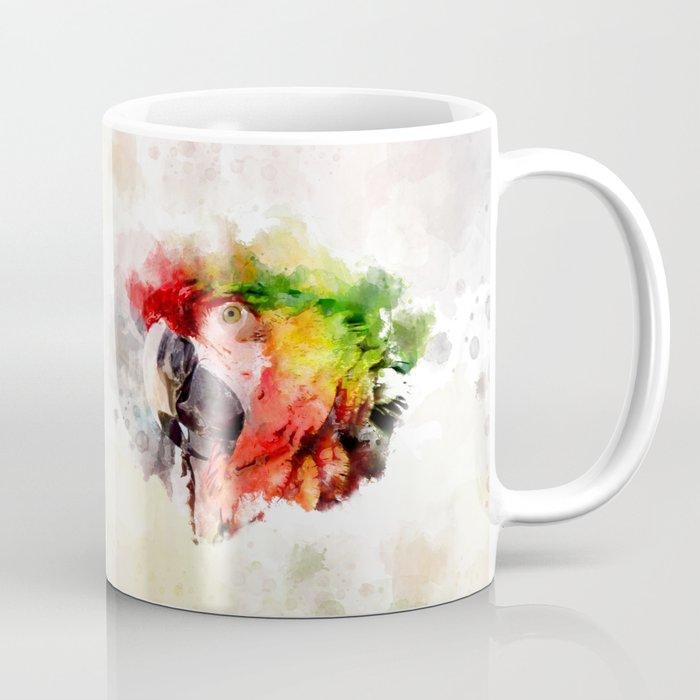 Watercolor Digital Painting Macaw Coffee Mug