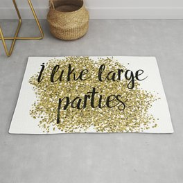 I like large parties - golden jazz Rug