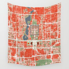 Beijing city map classic Wall Tapestry