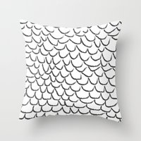 angel wings Throw Pillows featuring angel wings by her art