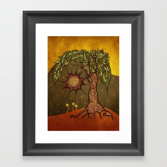 "Mystic tree Dia by Pom Graphic Design & Viviana Gonzalez"" Framed Art Print"