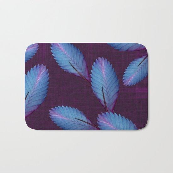 Tillandsia in dark purple Bath Mat