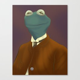Kermit T. Frog Esquire Canvas Print