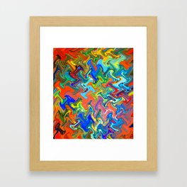 Melting Marbles Framed Art Print