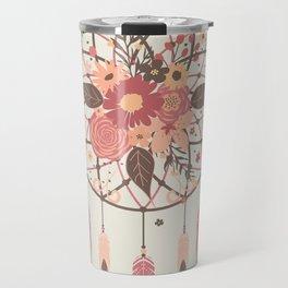 Floral Dreamcatcher Travel Mug