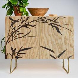 Japanese bamboo buddha wood art Credenza