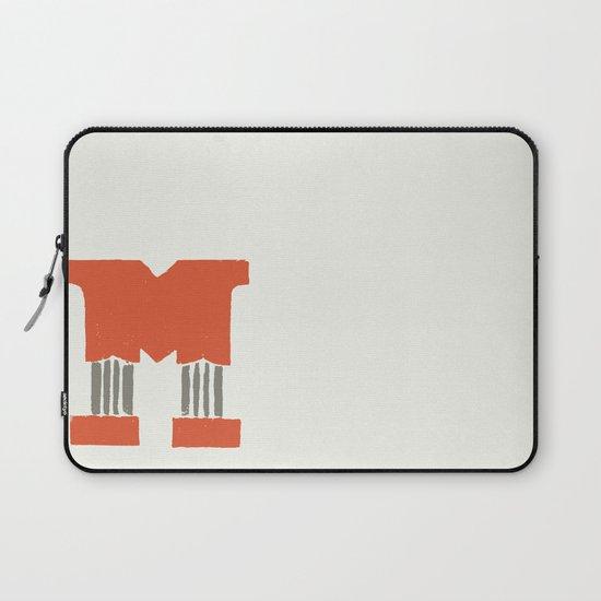 M Lettering Laptop Sleeve