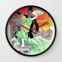 Jules Cheret - Opera theater - Digital Remastered Edition Wall Clock