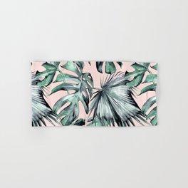 Island Love Coral Pink + Green Hand & Bath Towel