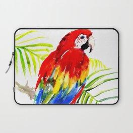 Scarlet Macaw, tropical bird, jungle Laptop Sleeve