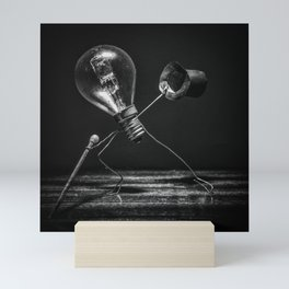 Tip-tap dancer in black and white Mini Art Print