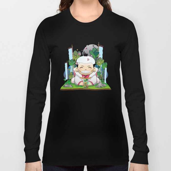 Fukusuke and the magic forest Long Sleeve T-shirt