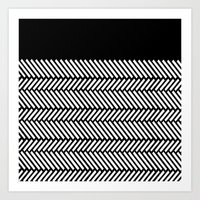 herringbone Art Prints featuring Herringbone Boarder by Project M