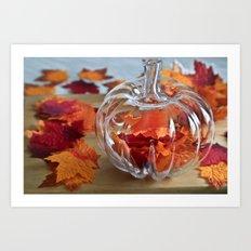 Pumpkin Vase Art Print