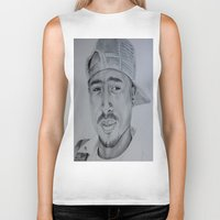tupac Biker Tanks featuring Tupac  by Brooke Shane