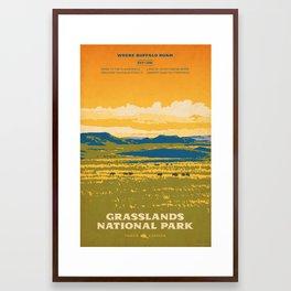 Grasslands National Park Poster Framed Art Print