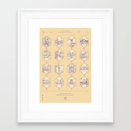 Endangered Love - Sloth Sutra Framed Art Print