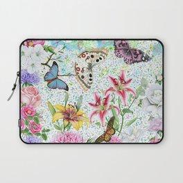 Magical Butterfly Flower Garden Laptop Sleeve