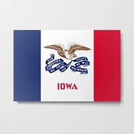 Iowa State Flag Metal Print