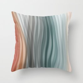 Pretty Pastel Bands Throw Pillow