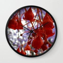 Flame Tree Wall Clock