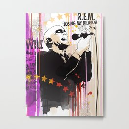 Michael Stipe pop style art Metal Print