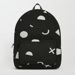 Black & White Memphis Pattern Backpack